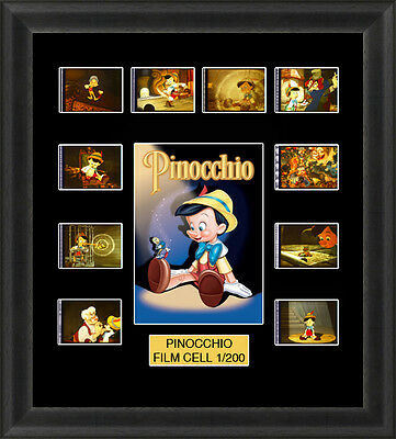 Disney Pinocchio 1940  Mounted Framed 35Mm Film Cell Memorabilia