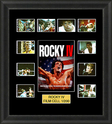 Rocky 4 1985 Mounted Framed 35mm Film Cell Memorabilia