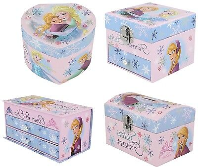 Disney Frozen Coin Jewellery Drawer Mirror Box Wd16228 Wd16227 Wd16226 Wd16225
