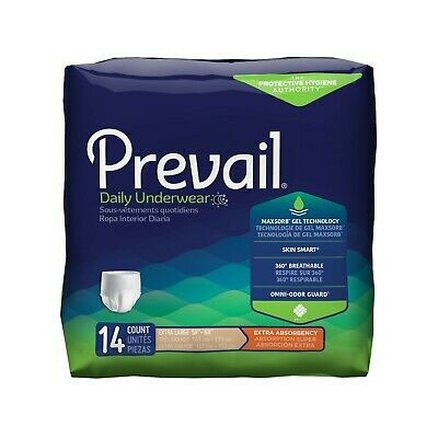 Prevail Extra Adult Underwear Diaper, XL, EXTRA LARGE, PV-514 - Case of 56
