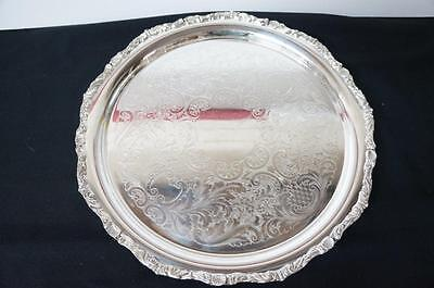 "Crescent 4898 R Silverplate Hollowware 14""  Shell Edge Serving Tray"