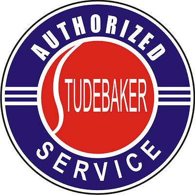 Studebaker Authorized Service Decal / Sticker - Set Of 2