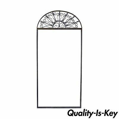 Vintage Ornate Wrought Iron Door Arch Frame Patio Garden Element D 92 x 42