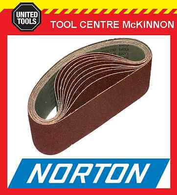 "10 x NORTON #80 GRIT 3"" (75 x 610) SANDING BELT – SUIT MAKITA 9924DB AND OTHERS"