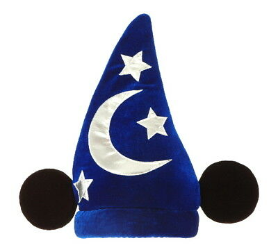 Mickey Mouse Deluxe Licensed Wizard Hat Sorcerer Fantasia Costume Accessory, NEW