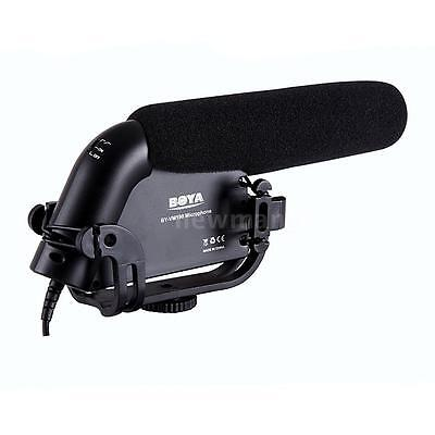 BOYA BY-VM190 Stereo Shotgun Microphone with Windshield for Canon Nikon Cam 9OW3