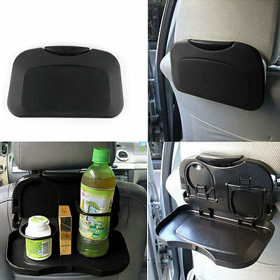 NEW Folding Auto Car Back Seat Table Drink Food Cup Tray Holder Stand Desk UL