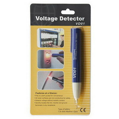 Electric Voltage Detector Non-Contact 90~1000V AC Tester Test METER Pen UL