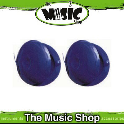 New Pair of Angel Percussion Blue Plastic Finger Castanets - APC15BL
