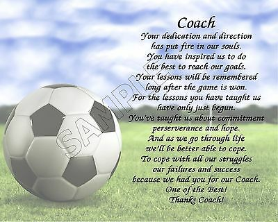 To Our Soccer Coach Personalized Print Poem End Of The Year Appreciation Gift