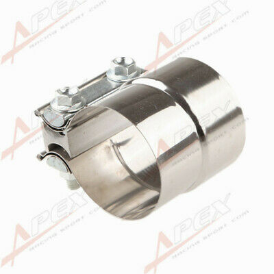 """2.5"""" Stainless Steel Torctite Exhaust Band Clamp Step Clamps Lap Joint UK"""