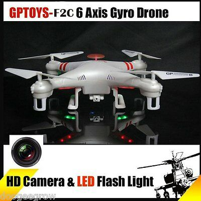 GPTOYS F2C 4CH 2.4G Quadcopter 6 Axis 360° 3D Flip Fly UFO Drone w/2MP HD Camera