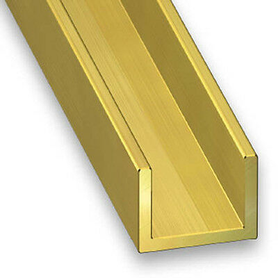 Solid Brass Channel/U-Channel/C-Channel - 6mm x 0.8mm x 1m