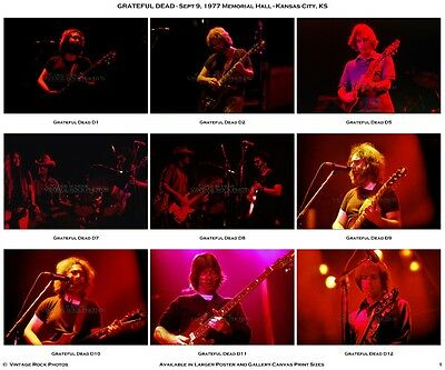 Jerry Garcia Grateful Dead Photos 4x6 inch Set of 21 Prints '77 Kansas City DS