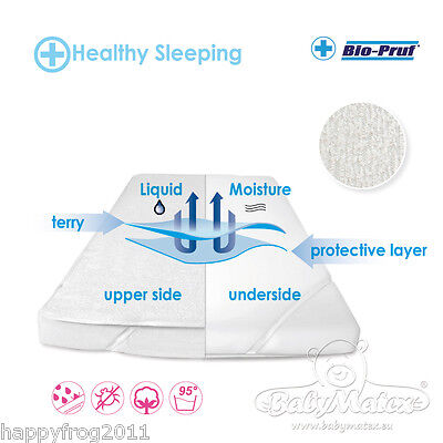 Waterproof SOFT COTTON Mattress Protector for Cot Beds 60x120cm, 70x140cm