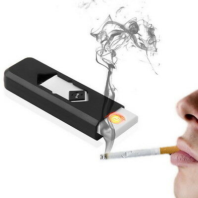 USB Electronic Rechargeable Battery Flameless Cigar Cigarette Lighter UL