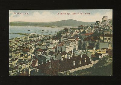 GIBRALTAR Bird's Eye view of the town c1920/30s? PPC