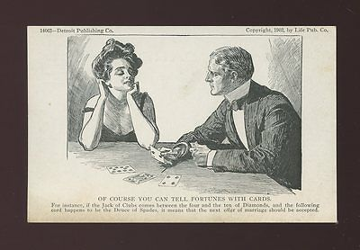 USA Glamour Romance PLAYING CARDS Fortune telling unused c1903 PPC