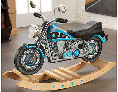 KidKraft Boys Motorcycle Rocking Chair Star Studded Rockin Horse Music Toy 10018