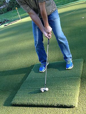 Country Club Elite® Golf Practice Mat 2 piece Real Feel® Portable Twin Combo 2nd