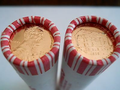 2009-D Lincoln Log Cabin Cents, 1 BU Roll From N.F. String wrapped Bank Box