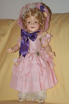 """Vintage 22"""" Little Colonel Shirley Temple Composition Doll With Diamond Mark"""