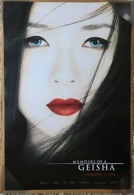 MEMOIRS OF A GEISHA MOVIE POSTER 2 Sided ORIGINAL Advance INTL 27x40