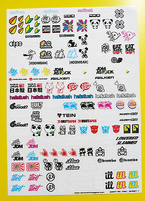RC 18th scale DRIFT STICKERS decals DRIFTING JDM HUGE CLEAR VINYL PRE CUT SET