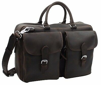 "Vagabond Traveler 17"" Medium Cowhide Leather Duffle/ Gym/ Travel Tote L27.DB"