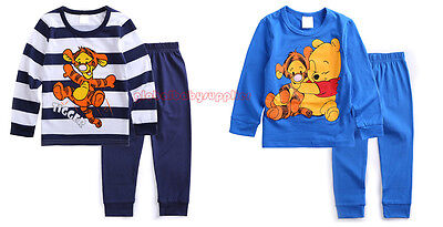 2pcs Baby T-shirt Top+Pants Pajamas Boy Clothes Cotton Outfits Sleepwear Sets