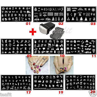 2019 New Year Halloween Xmas Christmas Stamping Plates Stamp Nail Art Template