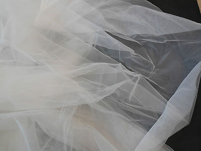 Off White Bridal Wedding Soft Tulle Veil Fabric DIY 150cm wide. Per 0.5Meter