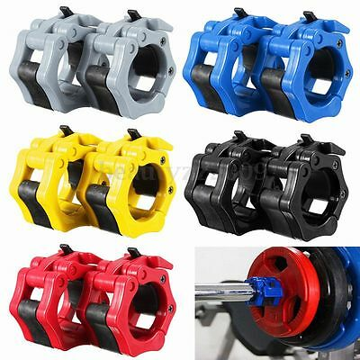 2x 50mm Collar Clamps Bloquear Barbell Dumbbell Primavera Peso Crossfit Set