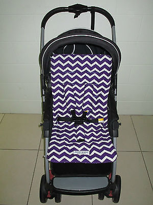 *PURPLE CHEVRON*universal stroller,pram,car seat liner set *NEW*