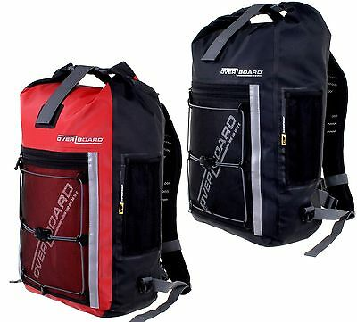 Overboard 30 Litre Pro-Sports Waterproof Backpack - Red and Black