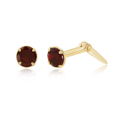 Sterling silver 2mm-3.5mm Andralok garnet crystal nose stud gift box included