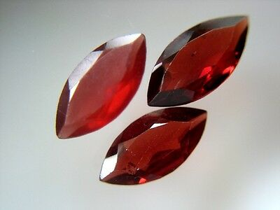 3 PYROP GRANATE  -  MARQUISE FACET  -  8x4 mm  -  1,68 ct.