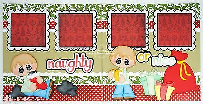 CraftEcafe Premade Scrapbook Pages Paper Piecing Christmas Boy BLJgraves 162
