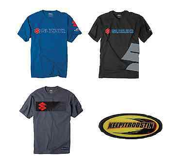 Suzuki Factory Effex T Shirts Mens Mx Motocross  M L XL 2XL  Red Blue