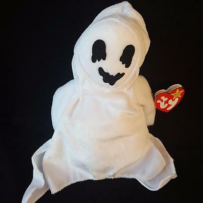 Ty Beanie Baby Ghost Sheets Plush 1999 PE Pellets Halloween 4260 MWMT