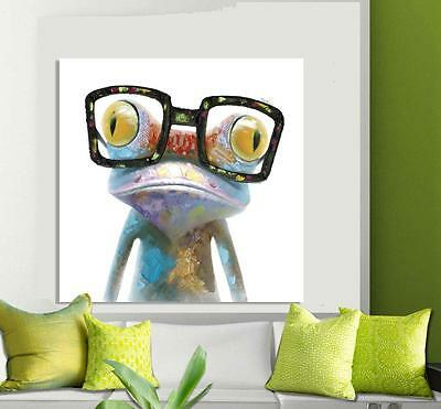 DOOBIE THE FROG wearing sunglasses textured painted canvas painting wall art