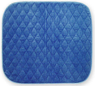 Washable Absorbent Incontinence ARMCHAIR Pad - Blue 53 x 55cm