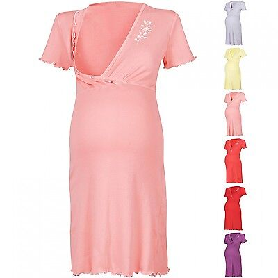 Happy Mama Women's Maternity Hospital Gown Nightie for Labour & Birth. 074p