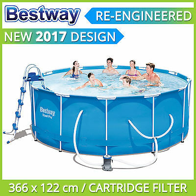 Bestway Above Ground Swimming Pool 366 x 122 cm with Cartridge Filter Pump