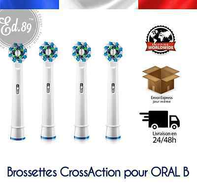Brossettes type CROSSACTION compatibles brosses à dents Braun Oral B