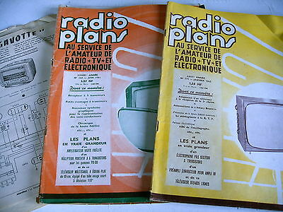 RADIO PLANS lot 4 revues ans 50 / 60 RADIO TV ELECTRONIQUE