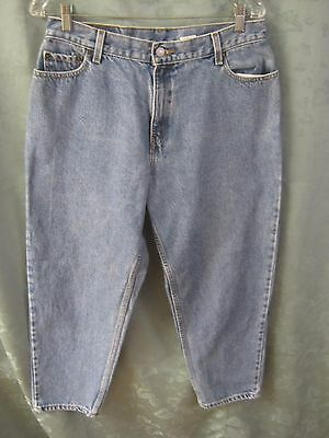 90's Levis 550 High Waist Relaxed Tapered Jeans Size 14P Short