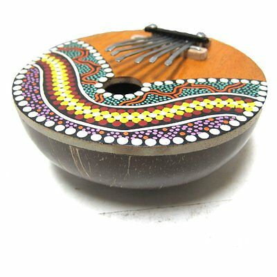 Coconut painted thumb Piano ( Mbira or Kalimba )