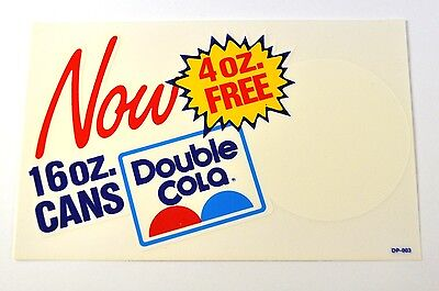 Double Cola USA Aufkleber Sticker Decal 20 x 13 cm - Now 16 oz. Cans