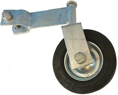 """SWIVEL GATE HELPER WHEEL: for Chain Link Fence + Swing Gates with 1-3/8"""" Pipe"""